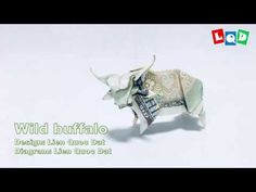 Model: Wild buffalo Design & diagram: Lien Quoc Dat Hi everyone, I hope you like my model I want to create more and more beautiful, simple models which every. Dollar Bill Origami, Money Origami, Origami Ball, Origami Paper, Origami Boxes, Origami Instructions, Origami Tutorial, Origami Flowers, Origami Hearts