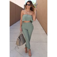 Instagram media by divamodafashioncouture - In love with this pant set  www.divaboutiqueonline.com also available in black search: Victoria