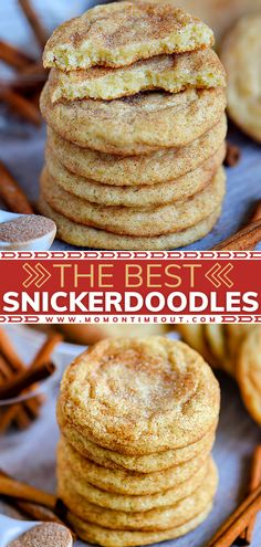 Do you need an easy Christmas dessert or gift idea? You are only a few simple steps away from a batch of the BEST Snickerdoodles! Baked with a cinnamon sugar topping, this classic holiday dessert is a must-have! Check out some fun twists on this delicious cookie recipe!
