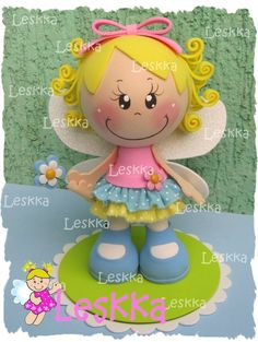 Foam Crafts, Diy And Crafts, Crafts For Kids, Arts And Crafts, Paper Crafts, Box Surprise, Fairy Dolls, Cold Porcelain, Doll Face