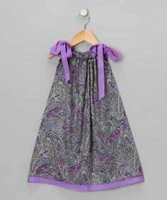 Purple Paisley Swing Dress - Infant, Toddler & Girls by Cozy Bug #zulily #zulilyfinds
