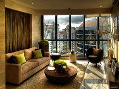 Living Room: Brown Living Room