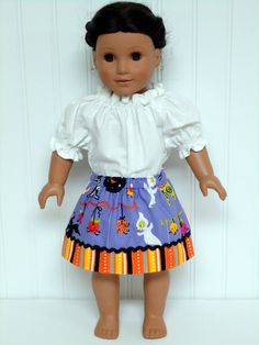 American Girl Doll Clothes Skirt Halloween by WendysWhimzies
