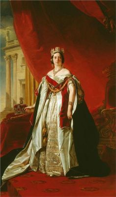 Victoria, Queen of the United Kingdom of Great Britain; by Franz Xaver Winterhalter, c. 1843