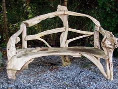 Love this rustic bench which has been cobbled together with random pieces of wood - it looks sturdy too.