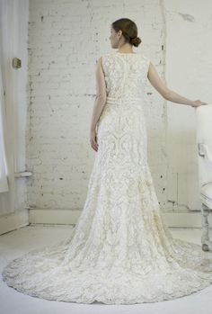 Oscar De La Renta Embroidered Floral Wedding Dress -  obsession