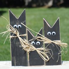 Primitive Black Cat, Halloween Decor Halloween Decorations-Halloween Decor-GFT Woodcraft