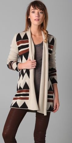 I love cardigans in fall/winter and am kind of digging this.