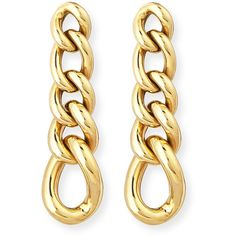Rina Limor New Essentials 18K Curb Chain Earrings (€1.310) ❤ liked on Polyvore featuring jewelry, earrings, post earrings, gold post earrings, yellow gold earrings, earrings fine jewelry and 18k earrings