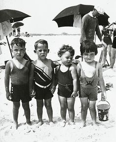 Beach buddies  circa 1930