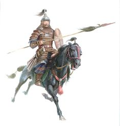 Mongol with lance.