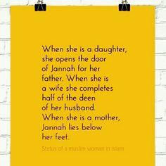 Happy #WomensDay #Status of #Women in #Islam.