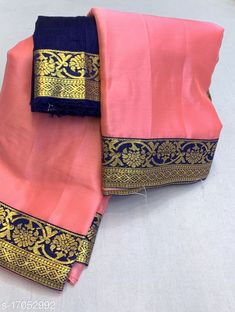 Sarees Aagam Attractive Sarees Saree Fabric: Chiffon Blouse: Separate Blouse Piece Blouse Fabric: Chiffon Pattern: Solid Multipack: Single Sizes:  Free Size Country of Origin: India Sizes Available: Free Size   Catalog Rating: ★4 (454)  Catalog Name: Aagam Graceful Sarees CatalogID_2828492 C74-SC1004 Code: 714-17052992-6201