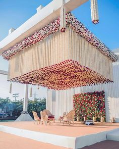 Ridiculous Tricks Can Change Your Life: Wedding Flowers Reception Decor wedding flowers tulips color schemes.Wedding Flowers Diy How To Make. Desi Wedding Decor, Wedding Stage Design, Wedding Hall Decorations, Luxury Wedding Decor, Marriage Decoration, Wedding Entrance, Wedding Mandap, Backdrop Decorations, Garland Wedding