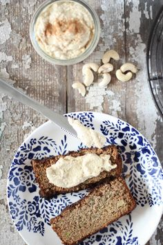 Zucchini Bread with Sweet Cashew Cream Cheese // nutritionstripped.com
