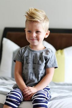 Little boy stylish haircut