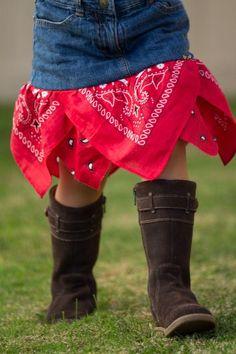 DIY Tutorial: DIY Skirt From Jeans / DIY Quick Bandana Skirt - Bead&Cord