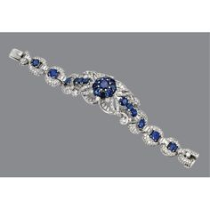 Sapphire and diamond bracelet, circa 1950 | Sotheby's