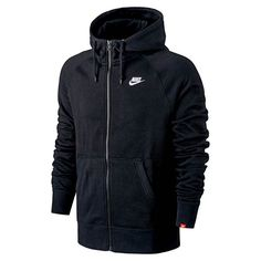 nike AW77 FT Full Zip Hoody BLACK/BLACK/WHITE