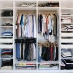 Wardrobe idea for shelves and hanging clothes