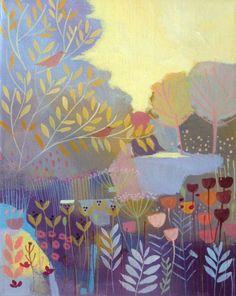 Original Acrylic Landscape Painting on Canvas - Changing Season- Annabel Burton