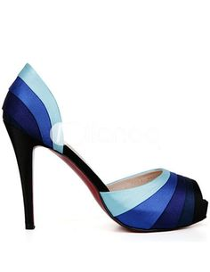 Unique Dark Blue 4 1 10   High Heel Womens Peep Toe Shoes - fc94af0ea67