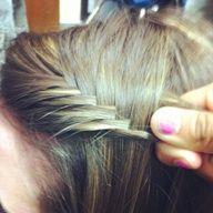 french fishtail hair