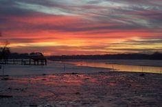 Sunrise Bird River (MD) at low tide