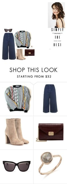 """""""to give you my love"""" by sodanceinthedark ❤ liked on Polyvore featuring Topshop, Gianvito Rossi, Mulberry, Christian Dior, Winter, ankleboots, suedeboots, culottes and winter2015"""