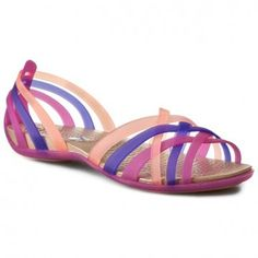 Womens Flats Crocs Huarache Flat Sandals Violet Melon 5 Flats Outlet Online Sale