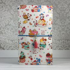 Fabric Traveler's Notebook in Kawaii Animal by MellonJournal