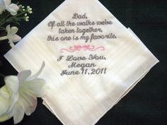 Personalized Wedding Handkerchief from the by EmbroiderybyLinda, $25.00