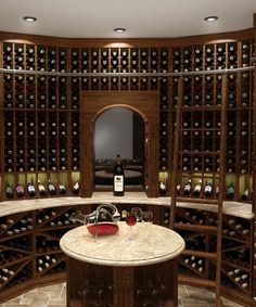 Custom made your stylish arched wine cellar with Ciematic, to get one-stop solution service from design to delivery. Wine Rack Design, Modern Country, Wine Cellar, Get One, Ladder, Custom Made, Delivery, Mirror, Stylish
