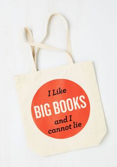 I like big books and I cannot lie! I love this book tote, great gift idea for book lovers! The Ultimate Mother's Day Gift Guide 2016 — Create. Inspire. Connect.