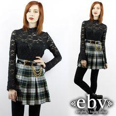Vintage 90s Grunge Skirt Plaid Mini Skirt Tartan Plaid by shopEBV, $48.00