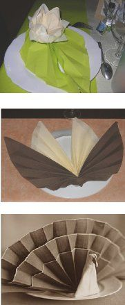 pliage Table Etiquette, Folding Napkins, Origami And Quilling, Communion, Color Combinations, Napkin Rings, Table Settings, Creations, Thanksgiving