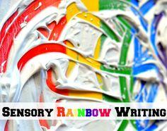 rainbow sensory writing activity