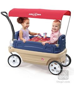 he Whisper Ride Touring Wagon by Step2 is a 3-in-1 wagon that kids and parents will enjoy! Toddlers can sit in the wagon during walks in the park or a take snooze when it's turned into a flat-bed. A favorite feature of the Whisper Ride Touring Wagon for parents is that it also serves practical, non-recreational uses such as hauling dirt, mulch and all the garden essentials around the backyard.