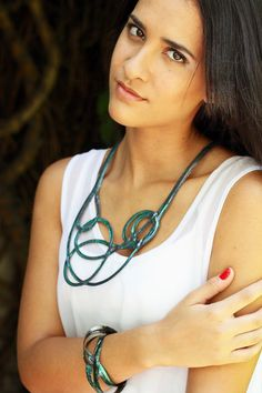 Contemporary Design Necklace. Handmade Necklace. by Kairajewelry
