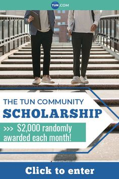 Each month a winner is selected from TUN communities. We will also let you know about other scholarships that you qualify for! College Packing, Saving For College, College Hacks, College Club, College Life, College Survival Guide, University, Community, Group
