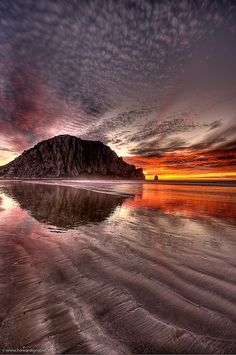 Morro Rock at Winter Sunset in Morro Bay ,  San Luis Obispo County, California. via flickr