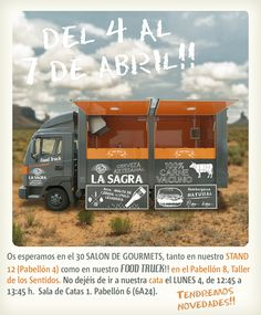 #Foodtruck de #CervezaLaSAGRA en el #30salondegourmets #IFEMA  100% carne de vacuno y cerveza artesanal. #feria #stand #decoracion #cervezaartesanal #montaje #craftbeer #fair #decoration #comida #100%natural #hamburguesa #food