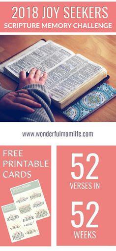 2018 Joy Seekers Scripture Memory Challenge - Its A Wonderful MomLife
