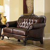 Give a grand welcome to your guests with the Smith Leather Loveseat. This loveseat has a brown tufted leather back and flared rolled arms with decorative nail head trim just perfect for a tradit Brown Leather Loveseat, Leather Sofas, Exposed Wood, Coaster Furniture, Leather Furniture, Sofa Set, Elegant, Home Furnishings, Love Seat