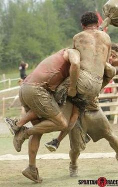 Gladiators trying to stop Spartans?  Turned out bad for the Gladiator it seems!! #SpartanRace #Spartans www.spartanrace.com