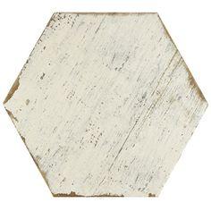 "Found it at Joss & Main - Hexagon 14.13"" x 16.25"" Porcelain Tile in White"