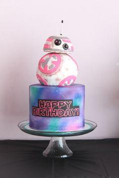 mias first birthday - Star Wars Cake - Ideas of Star Wars Cake - Star Wars Cake for a girl. The Little Caker LLC Star Wars Torte, Bolo Star Wars, Star Wars Cake Toppers, Star Wars Birthday Cake, Birthday Cake Girls, 9th Birthday, Birthday Cakes, Birthday Ideas, Girls Star Wars Party