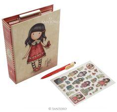 Gorjuss - Clip Pad Stationery Set - Rosie meerleuks