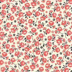 Designer: Fig Tree Company Collection: Chestnut Street Manufacturer: Moda Fabric: Milk Pomegranate Material: 100% Cotton Fabric Sold by 0.5 yard lengths and by Fat Quarters For any size order within t