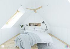 biała sypialnia - Sypialnia, styl skandynawski - zdjęcie od KOLORUM
